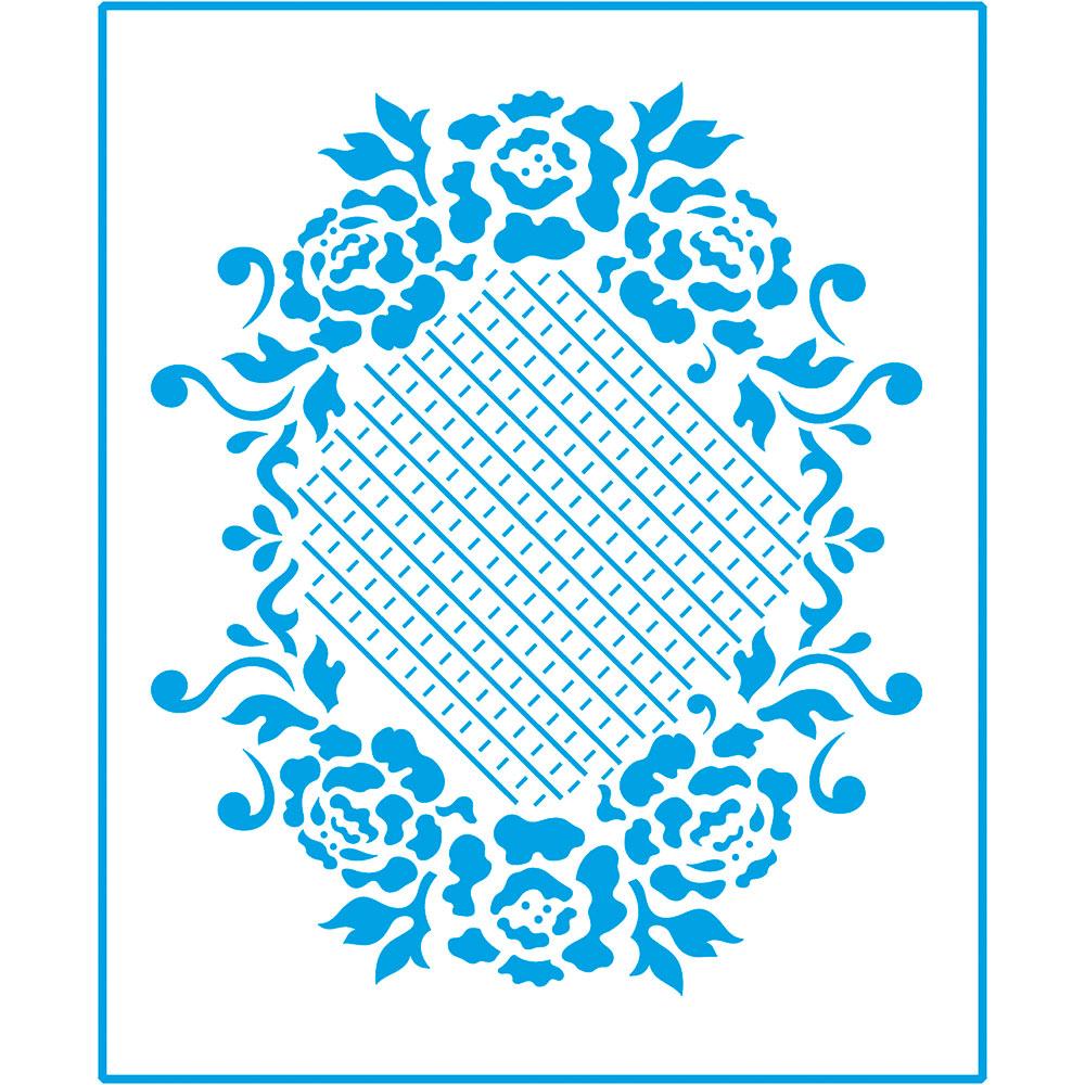 Stencil Litoarte Médio 17x21 STM 041 Forma Rosas