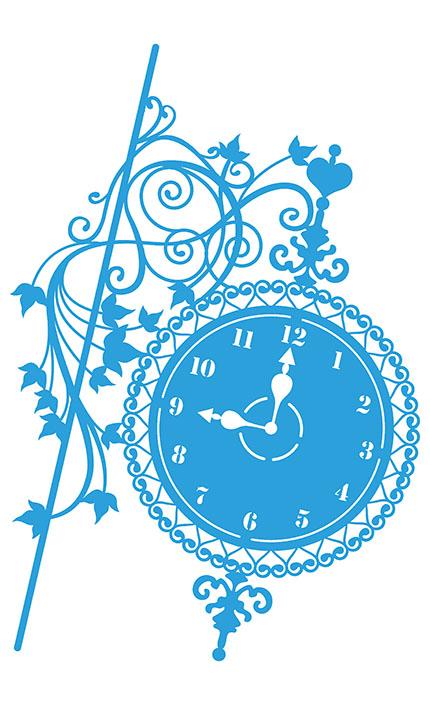 Stencil Litoarte STA3 026 Relógio Com Suporte