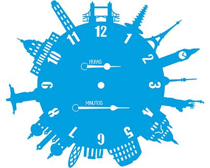 Stencil Litoarte STA3 029 Relógio Pontos Turisticos