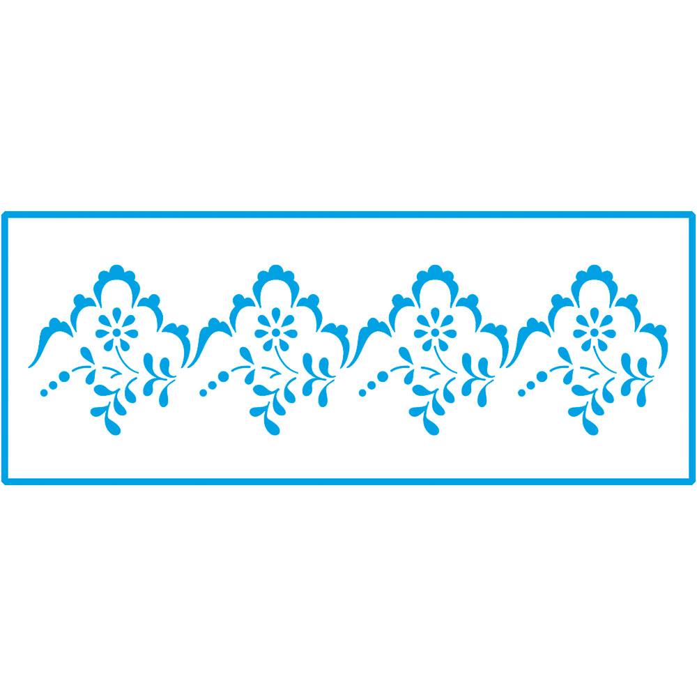 Stencil Litoarte STP 111 Barrados Arabescos e Flores