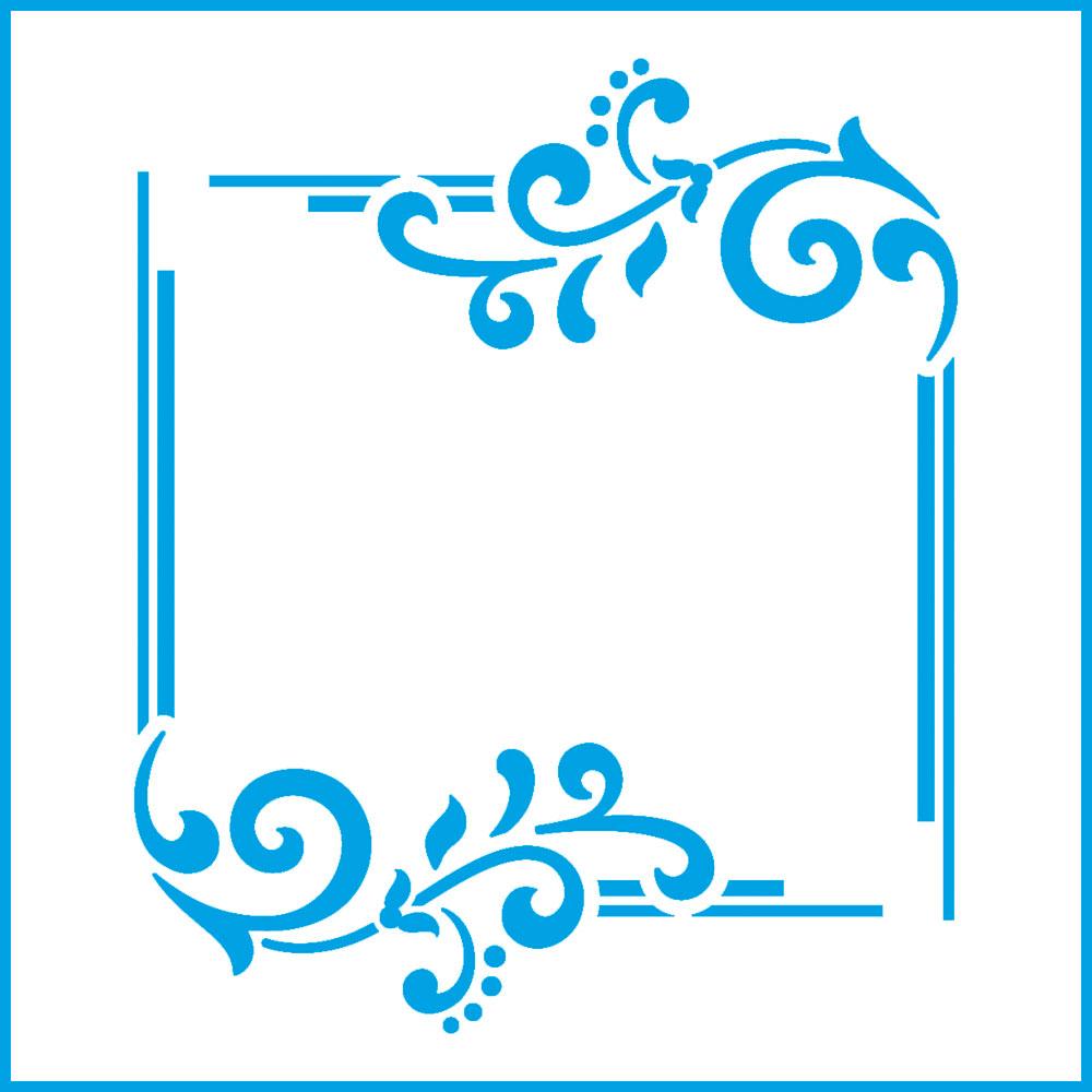 Stencil Litoarte STX 359 Moldura Arabescada