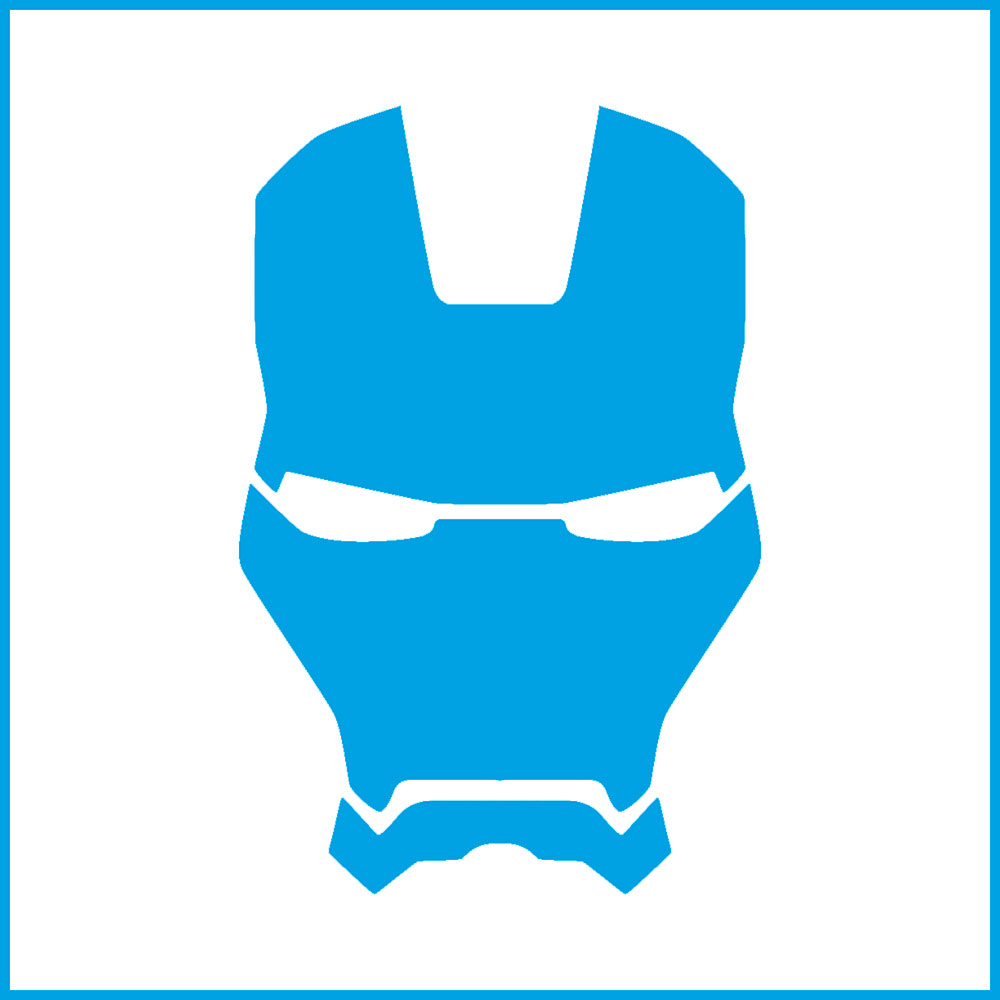 Stencil Litoarte STX 399 Super Herói Homem de Ferro