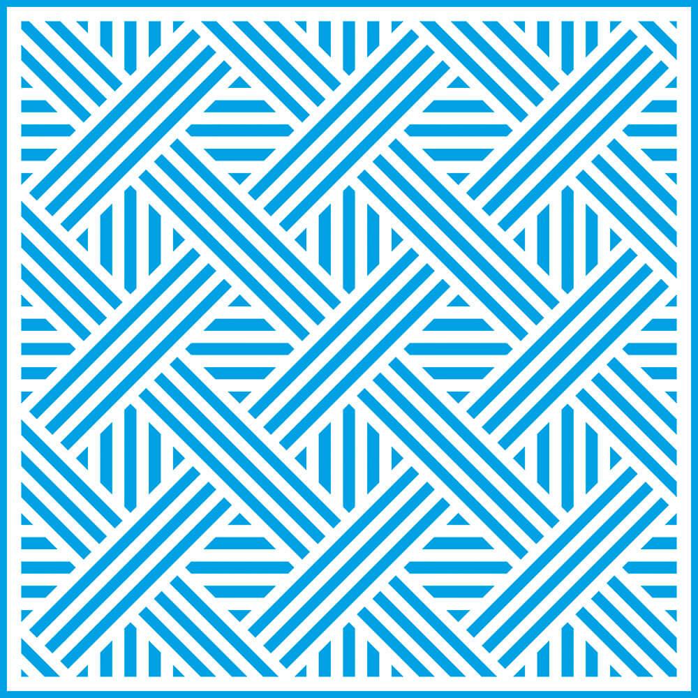 Stencil Litoarte STXX 080 Estampa Geométrica Entrelaçada