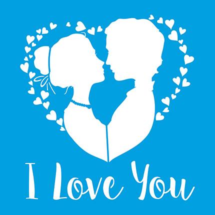 Stencil Litoarte STXX 104 I Love You Corações
