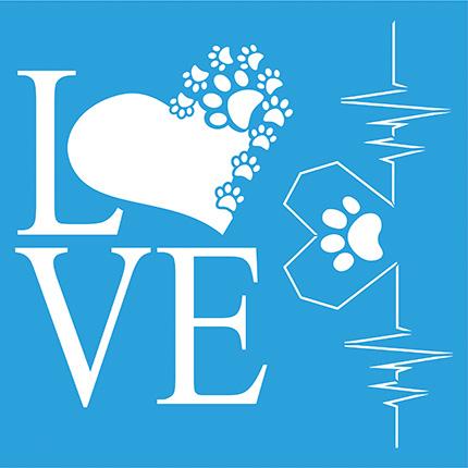 Stencil Litoarte STXX 108 Love Corações