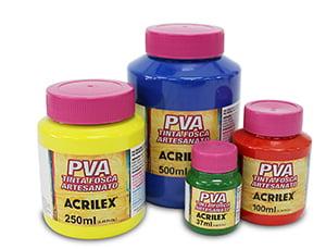 Tinta Fosca PVA Acrilex - Artesanato 100ml - BRANCA 519