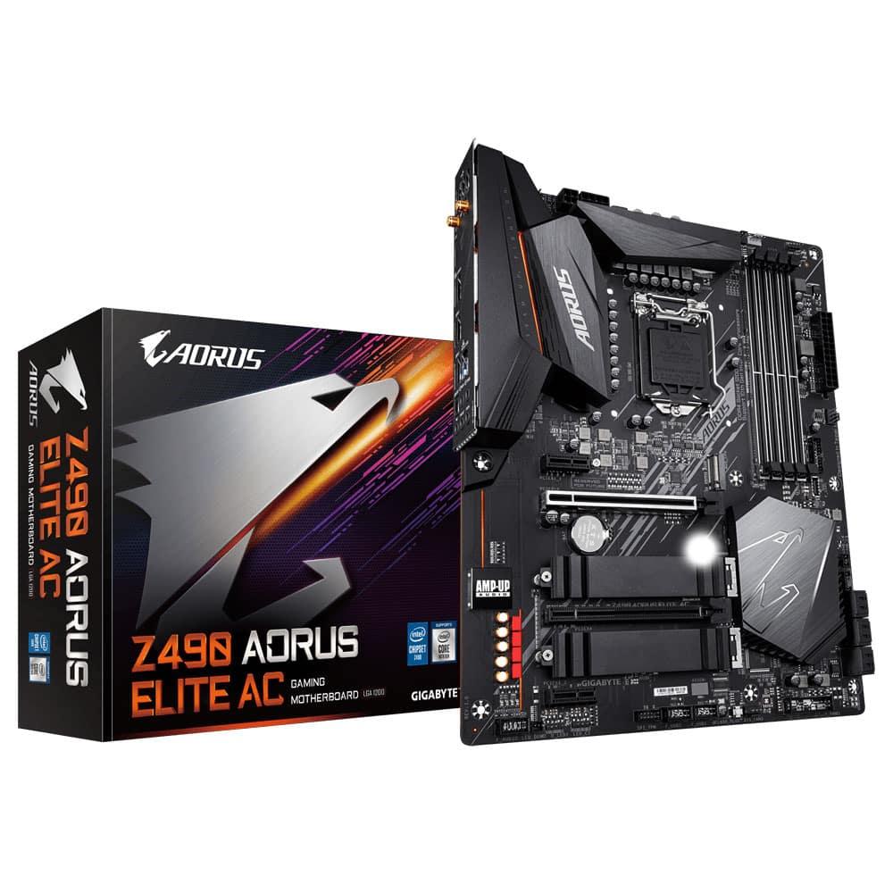 Placa mãe Intel Gigabyte Z490 Aorus Elite AC ATX DDR4 – LGA 1200