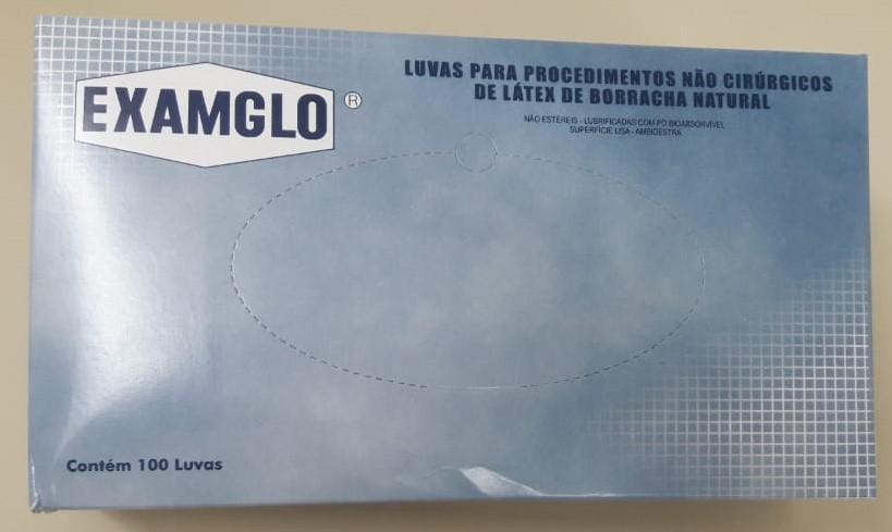 LUVA EXAMGLO PROCEDIM  LATEX - SANRO TAM M C/ 100 UN