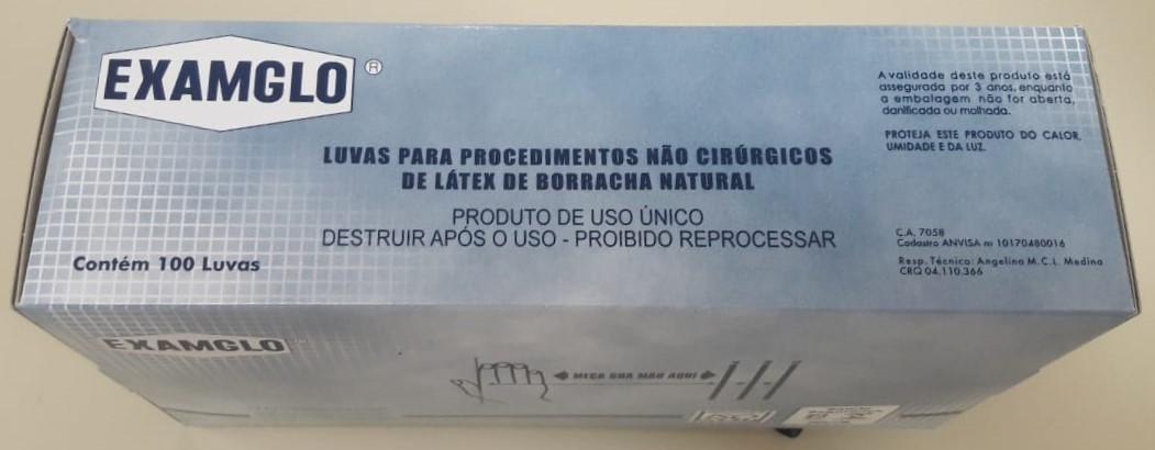 LUVA EXAMGLO PROCEDIM  LATEX - SANRO TAM P C/ 100 UN