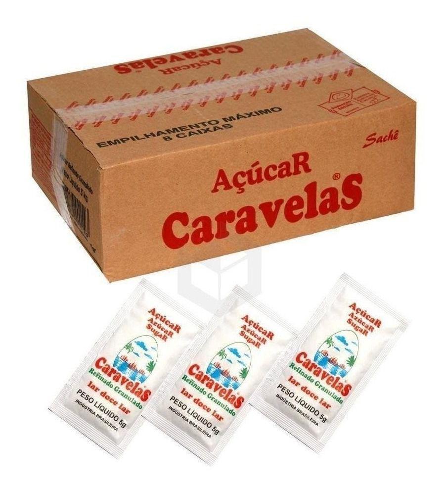 Açucar Cristal Premium Caravelas Sache 1000 unid