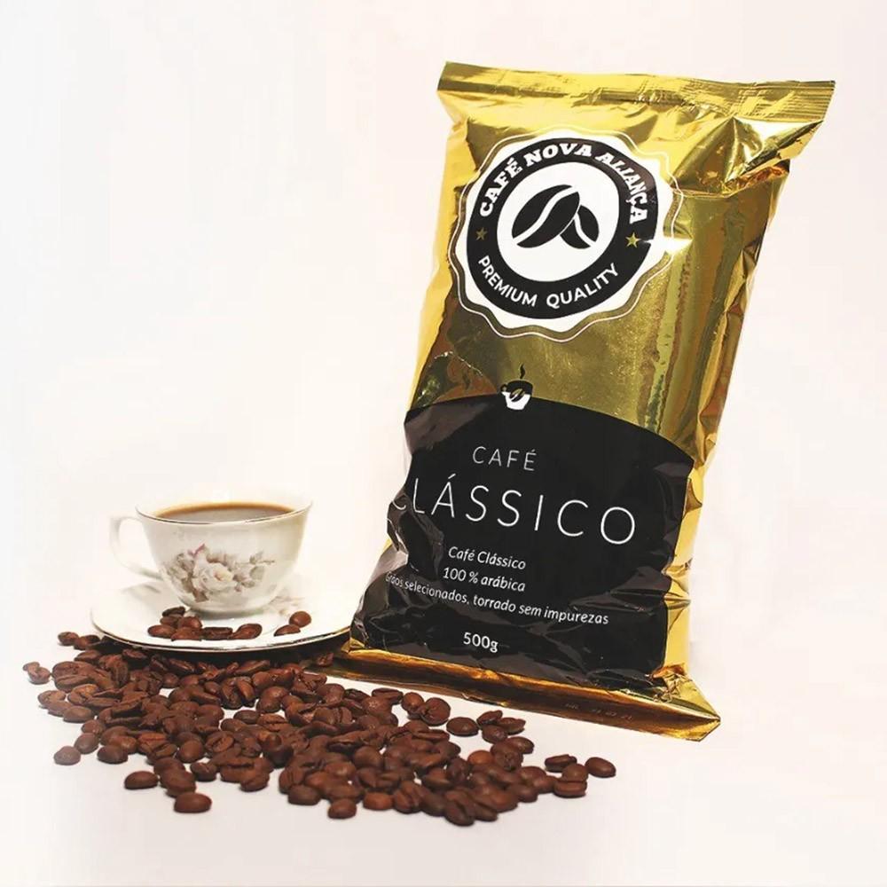 Café Nova Aliança Clássico Moído Pacote 500gr