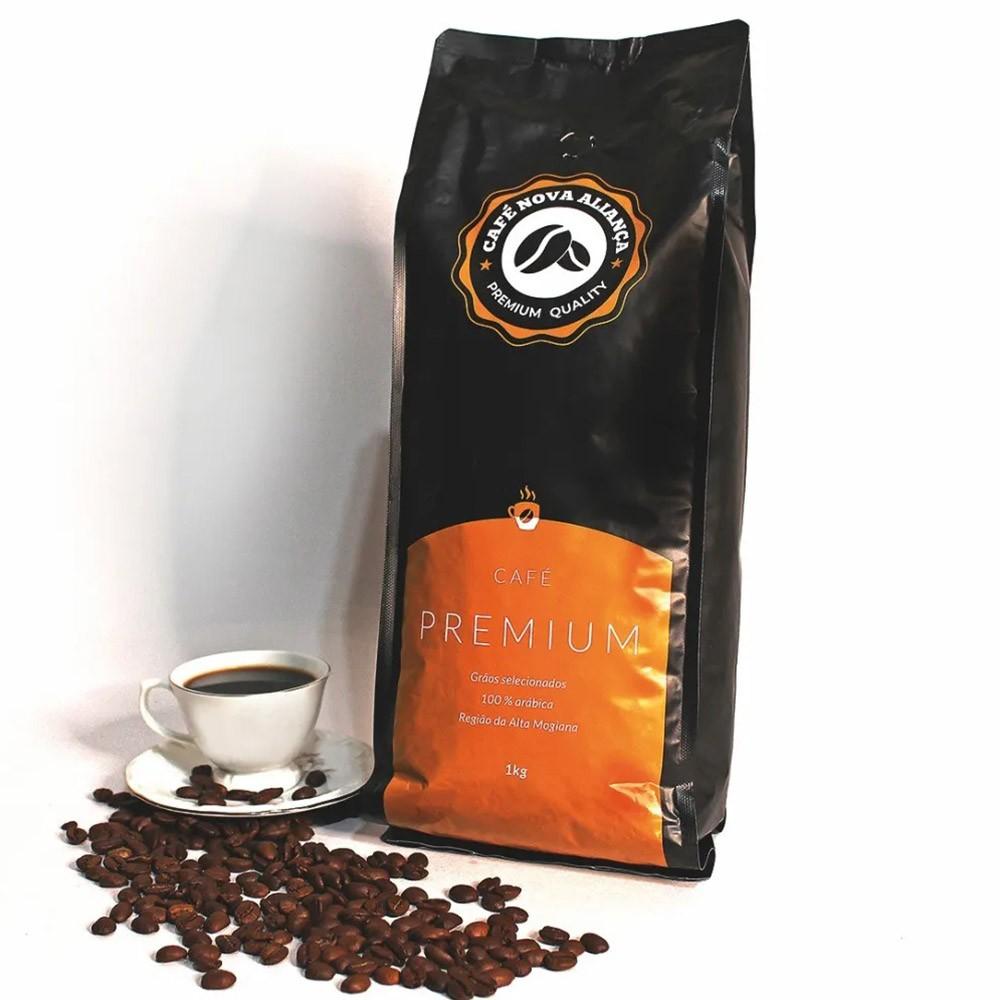 Café Nova Aliança Premium em Grãos Pacote 1kg
