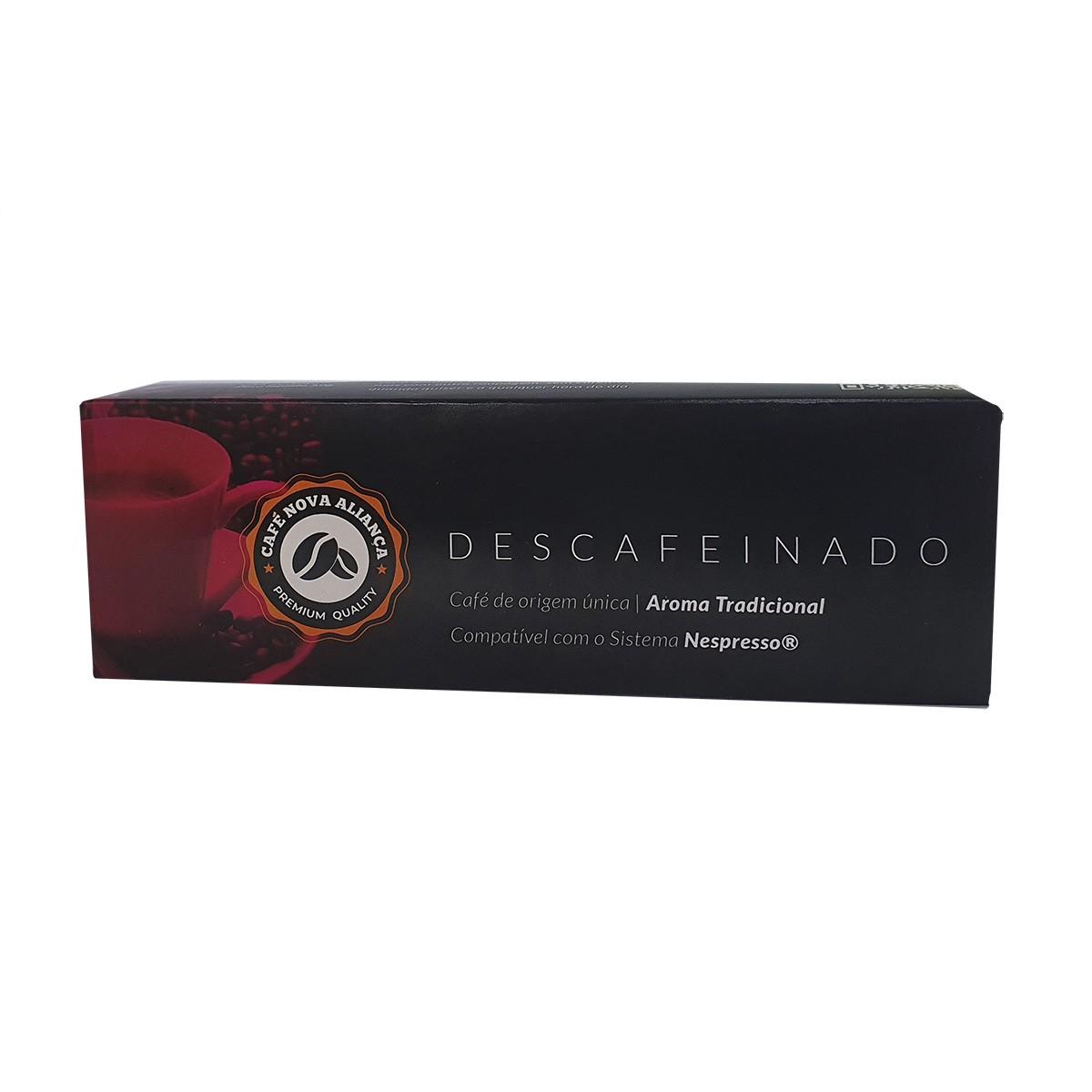 Cápsulas de Café Compatível Nespresso Sabor Descafeinado 10und