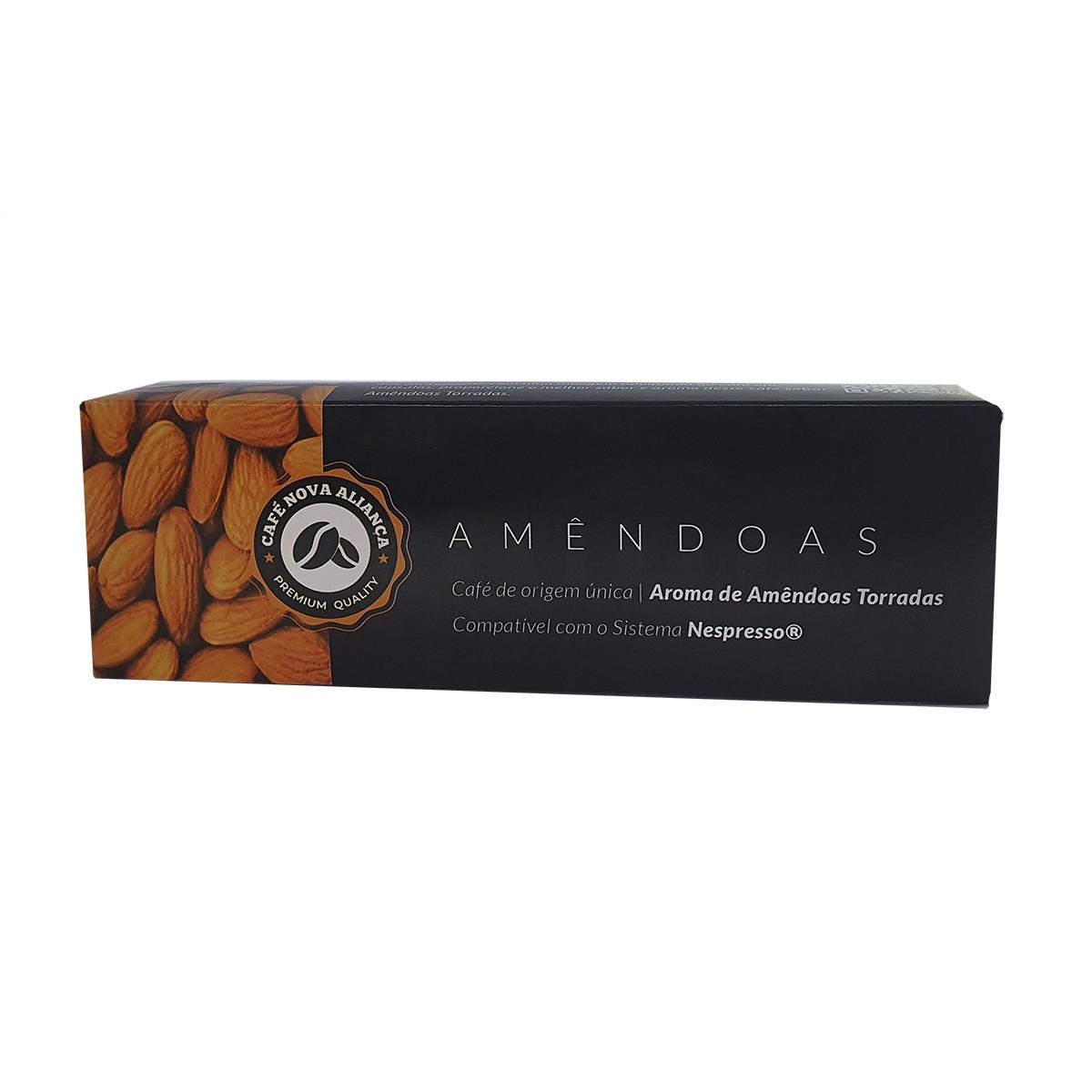 Cápsulas de Café Compatível Nespresso Sabor Amêndoas 10und