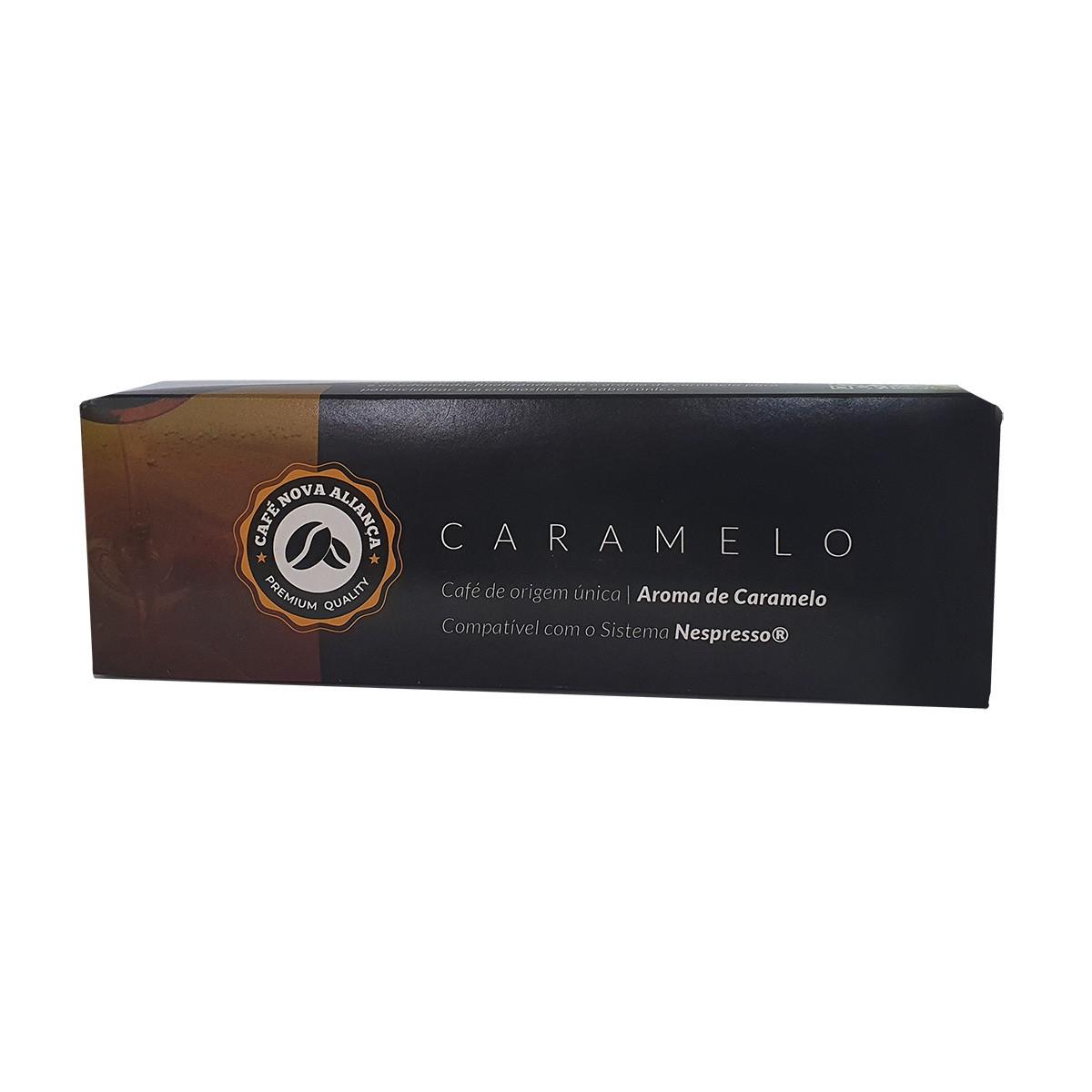 Cápsulas de Café Compatível Nespresso Sabor Caramelo 10und