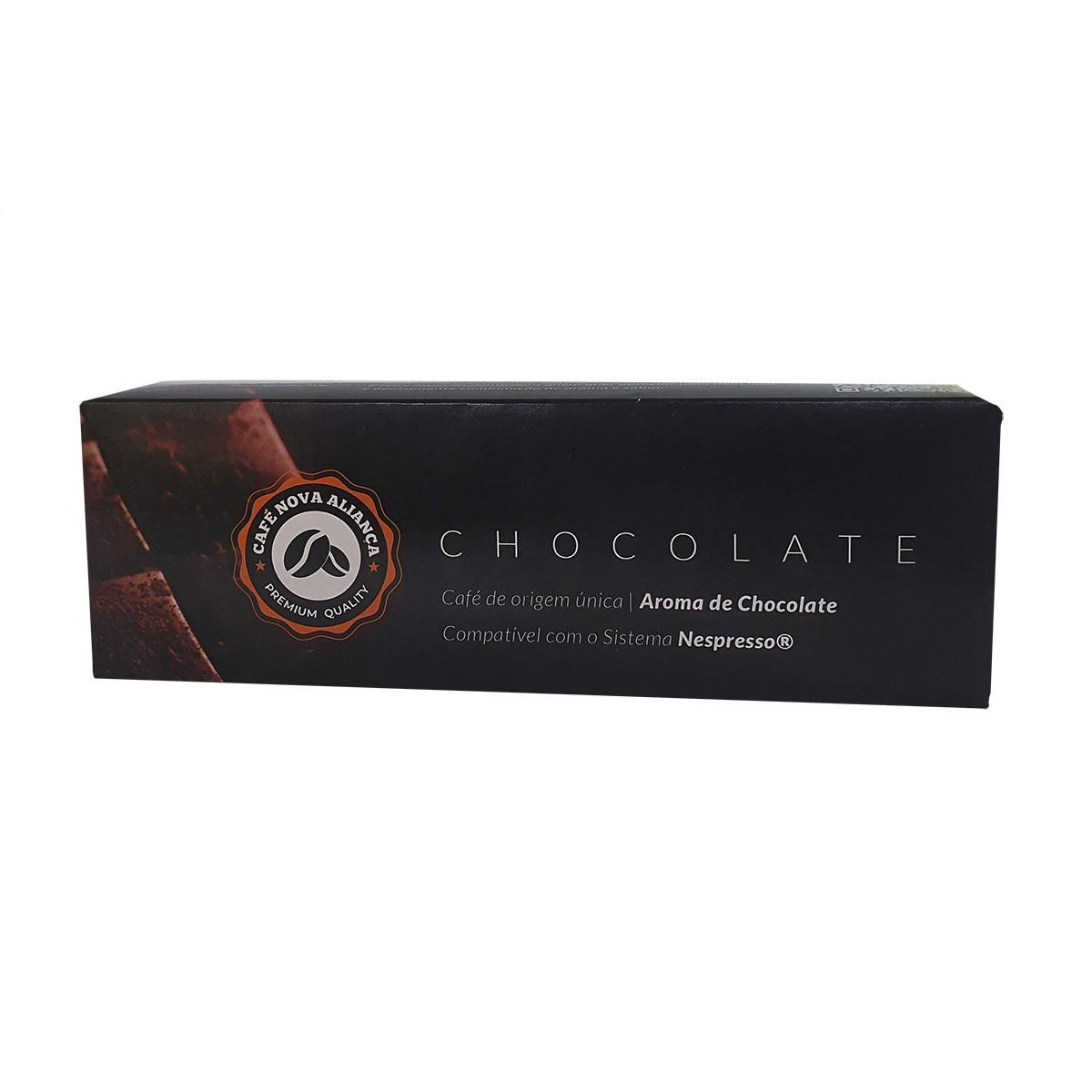 Cápsulas de Café Compatível Nespresso Sabor Chocolate 10und