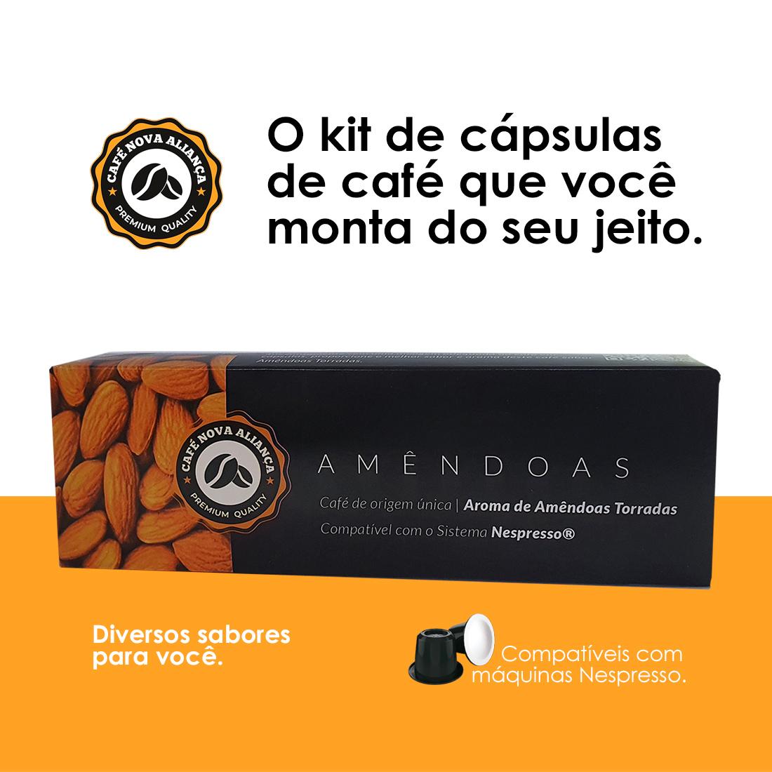 Kit Cápsulas de Café Compatíveis Nespresso