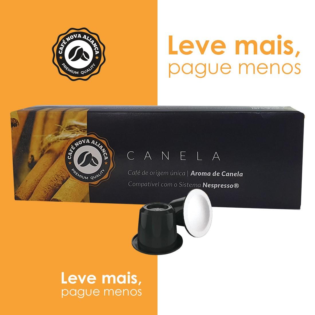 Kit Cápsulas de Café Compatível Nespresso Sabor Canela 6cx