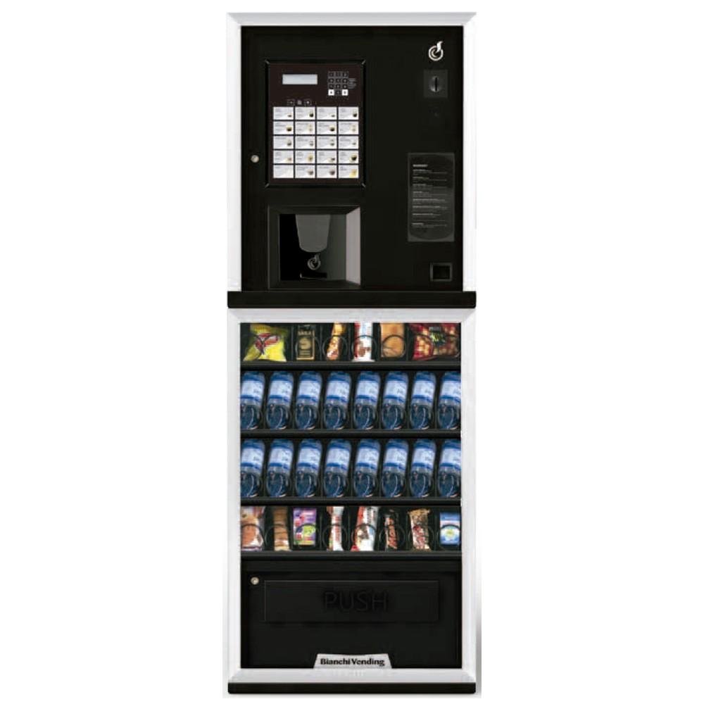 Máquina Automática Vending de Bebidas Quentes, Frias e Snacks Aria S LEI 300 Bianchi