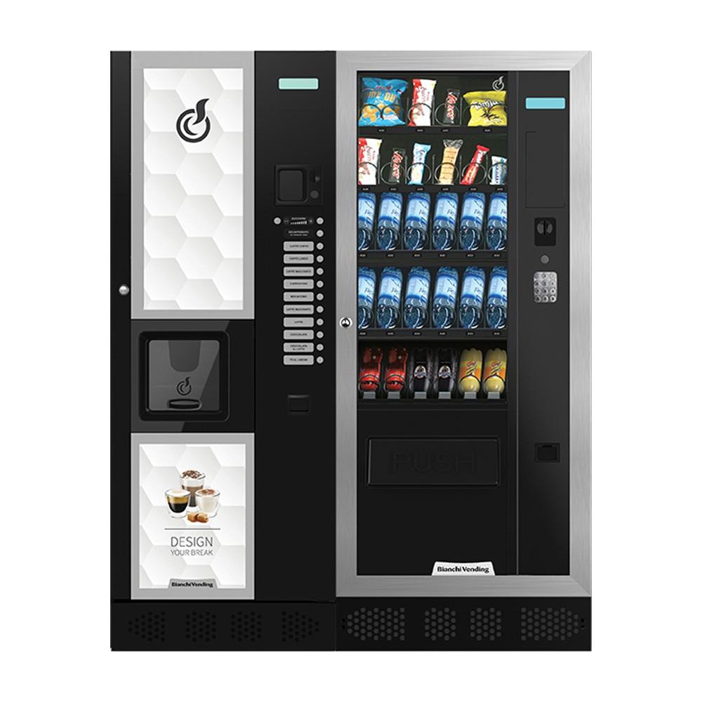Máquina Automática Vending de Bebidas Quentes LEI 400 + Aria M Slave Bianchi