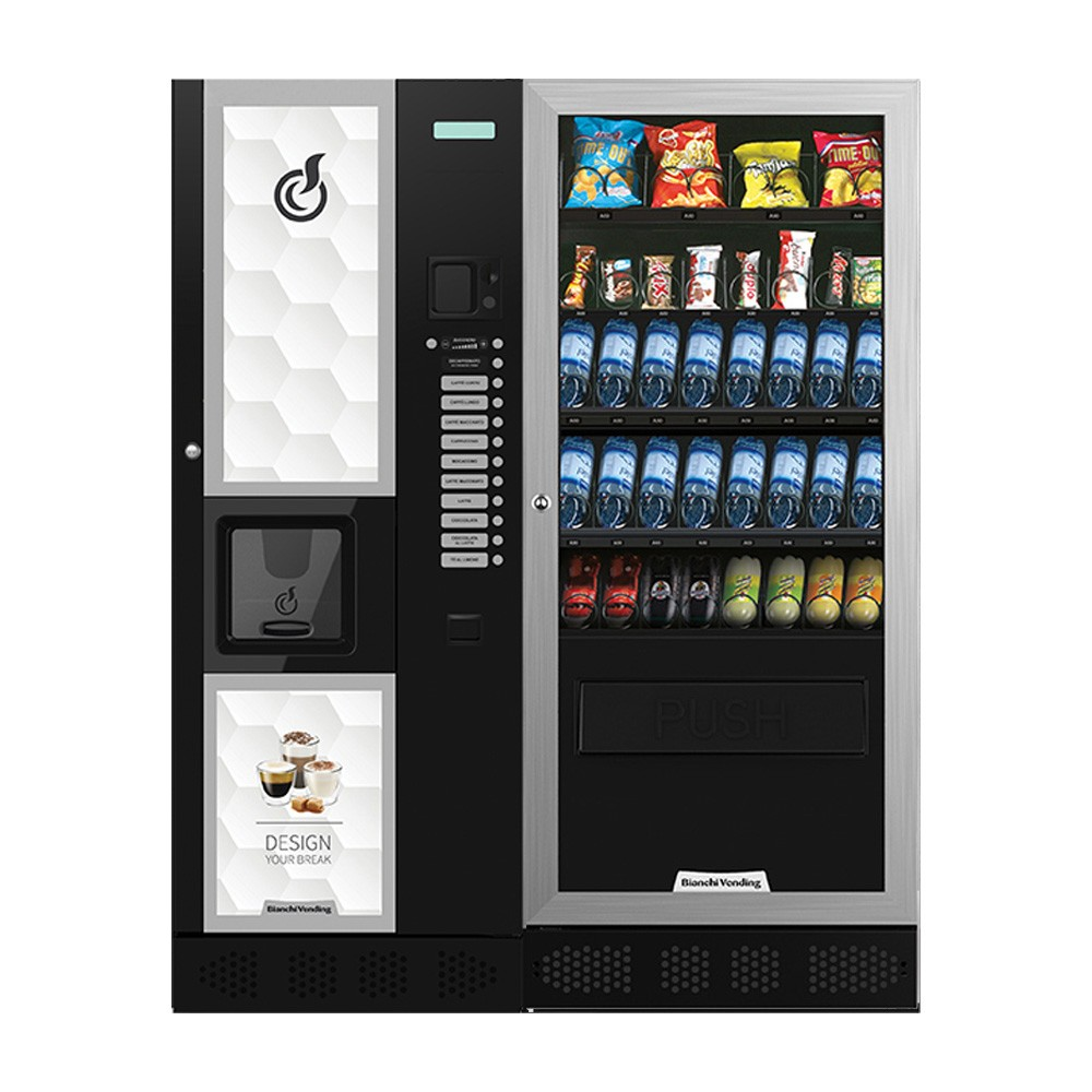 Máquina Automática Vending de Bebidas Quentes LEI 600 + Aria L Slave Bianchi