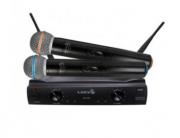 Microfone Duplo Sem Fio Uhf Lyco Uh-02Mm