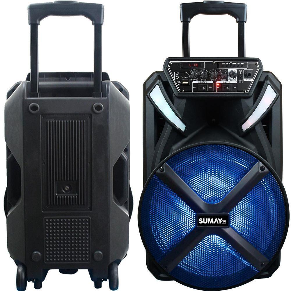 Caixa Acústica Bluetooth Sumay  X-Prime 600WRMS CAP22
