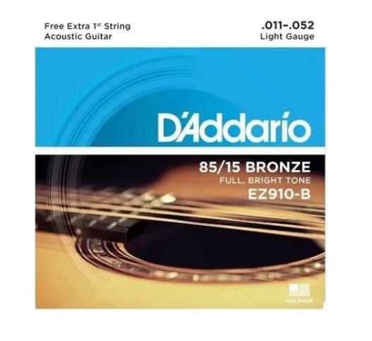 Cordas de  Violão Daddario EZ940 .010-.050 Aço 12 Cordas