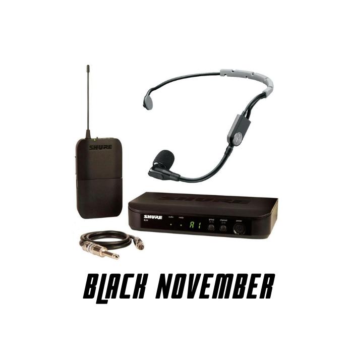 Transmissor Sem Fio Shure BLX14BR Instrumento Guitarra Baixo + Microfone Headset  PGA-31 TQG - Shure
