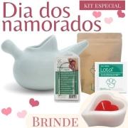 Kit Especial - Coração vazado branco com vermelho cheio