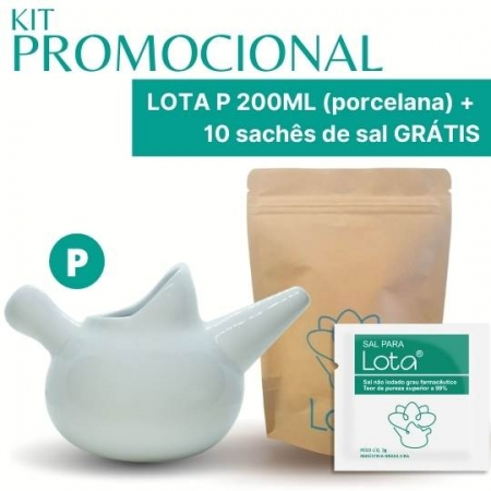 PROMOÇÃO! Lota P 200ml + 10 sachês de sal GRÁTIS