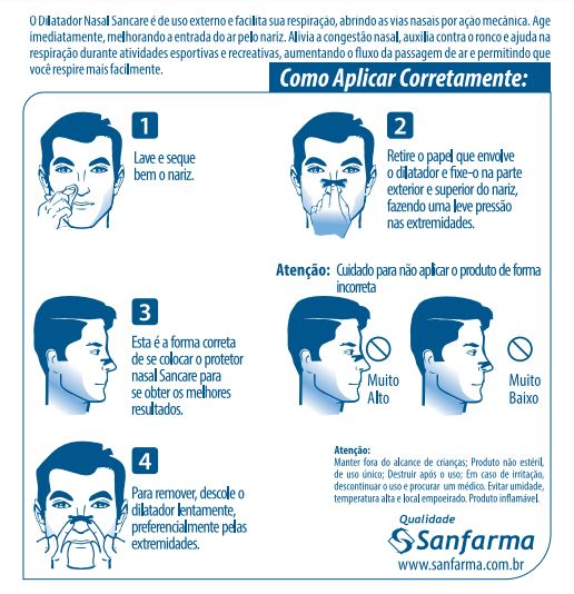 Dilatador nasal - Caixa com 10 unidades
