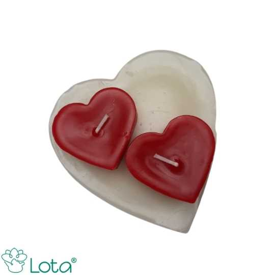Kit especial - Conjunto corações branco com vermelho