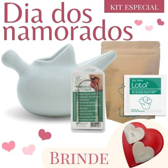Kit Especial - Conjunto corações vermelho com branco