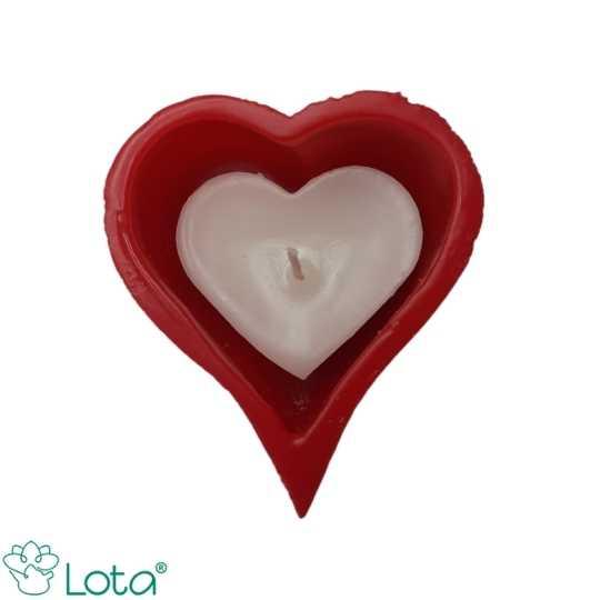 Kit Especial- Coração vazado vermelho com branco cheio