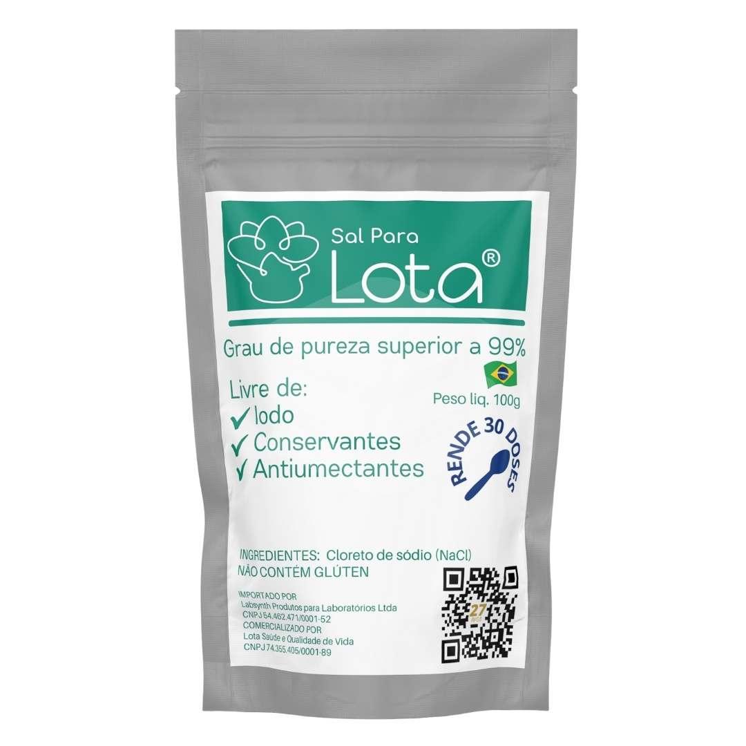 Sal para o Lota   Cloreto de sódio Não iodado para limpeza nasal - 100g