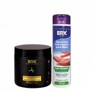 BRK Hair Btox Hydration and Nutrition 500g/16.90fl.oz + Hidratante Gel 300ml/10.1fl.oz