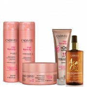 Kit Cadiveu Hair Remedy + Home Care Sos + Óleo Açai