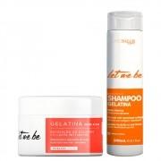 Kit Let me Be Shampoo Gelatina 240ml + Máscara Gelatina 250g