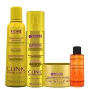 Kit Richée Clinic Repair System + Mascara + Óleo Argan Ojon