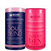 Kit Richée Reconstrução e Força Nanobtx + Soul Blond 1Kg
