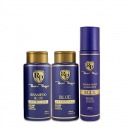 Kit Robson Peluquero Shampoo e Matizador Blue Home Care 2x300ml + Finalizador Finish Hair Luminous 250ml