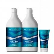 Lowell Extrato De Mirtilo Shampoo + Condicionador + Leave- In