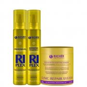 Richée Kit Riplex 2x110ml + Clinic Repair Máscara 500ml