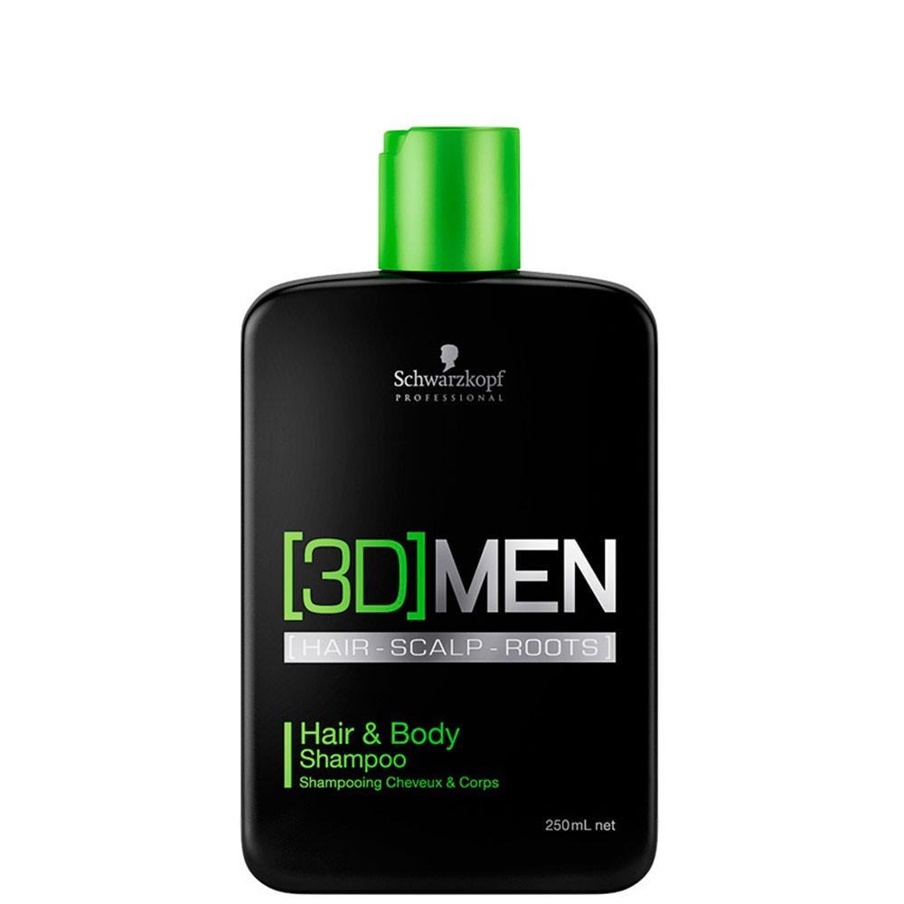 3D Men Shampoo Cabelo e Corpo 250ml
