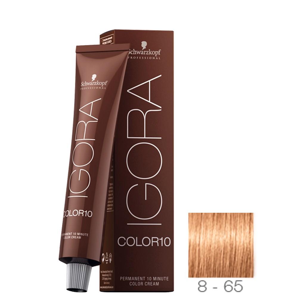 8-65 Louro Claro Marrom Dourado - Igora Color 10