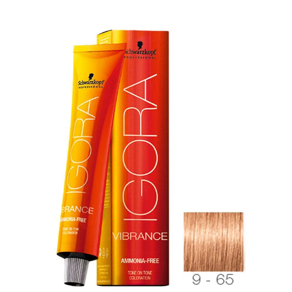 9-65 Louro Extra Claro Marrom Dourado - Igora Vibrance