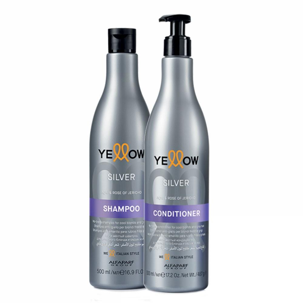 Alfaparf Kit Yellow Silver Shampoo & Conditioner 2x500ml/16.9fl.oz