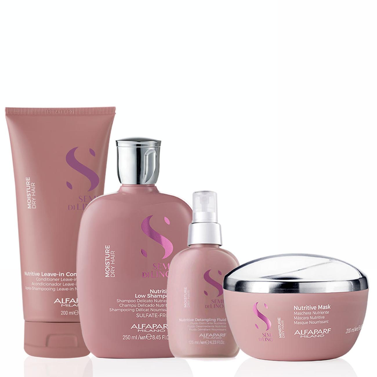 Alfaparf Milano Semi Di LINO Moisture Dry Hair Nutritive Kit Home Care Completo