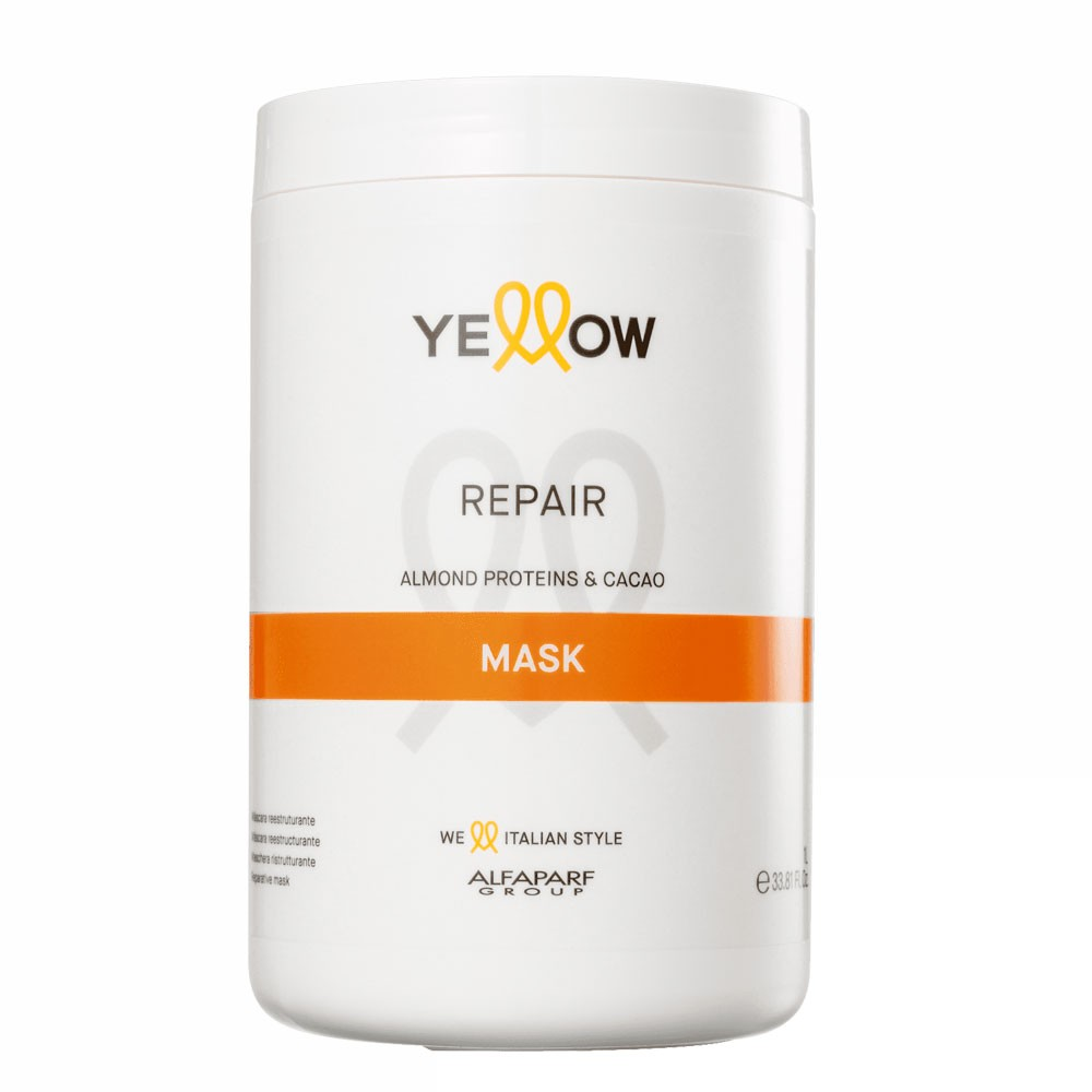 Alfaparf Yellow Repair Mask With Almond Proteins & Cacao 1L/33.81fl.oz